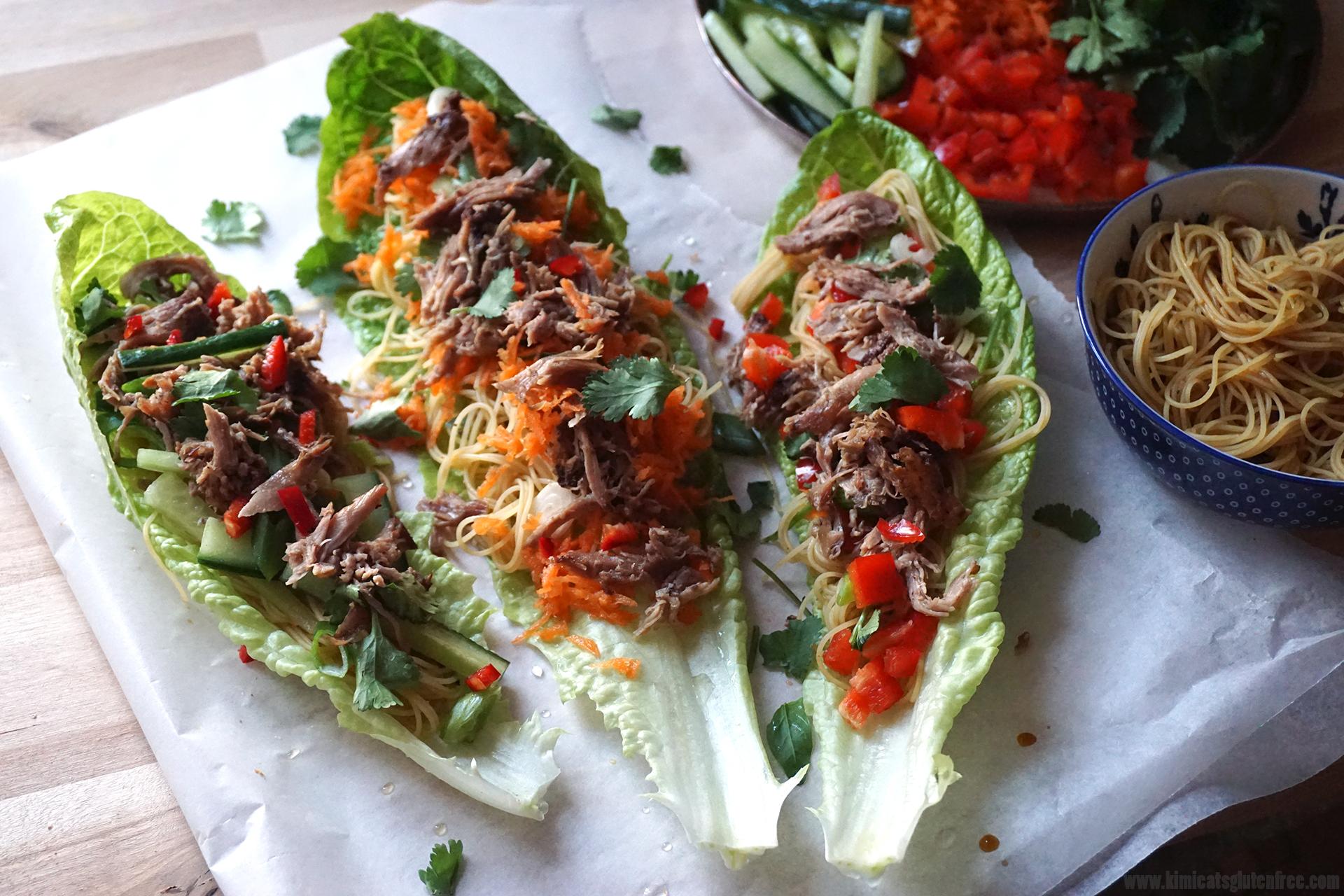 chinese crispy duck lettuce wraps gluten free kimi