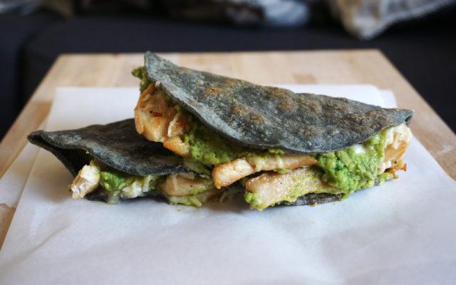 Chicken Guacamole Quesadillas {gluten free}