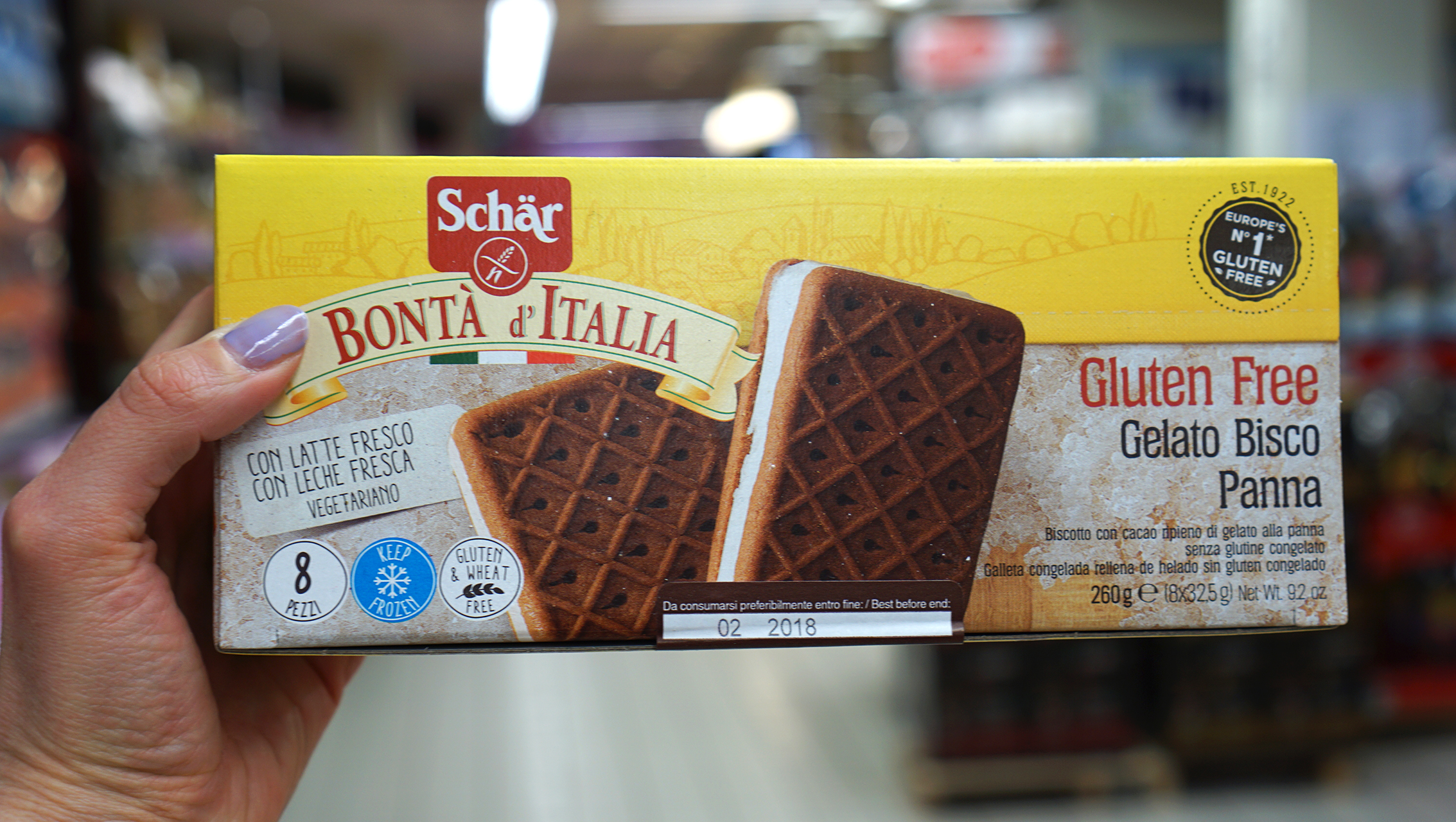 Gluten free Shar ice cream sandwiches at Coop in Venice - gluten free Venice guide