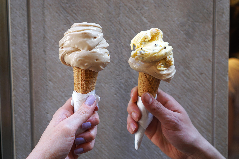 Gluten free gelato on cones from Grom in Venice - gluten free Venice guide