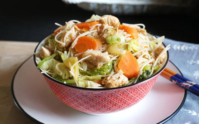 Easy Healthy Vietnamese Rice Noodle Salad {Chicken}